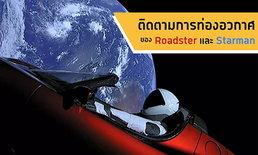 Roadster อยู่ไหน? มาติดตามการท่องอวกาศของรถ Roadster และ Starman ที่ถูกปล่อยจากจรวด Falcon Heavy