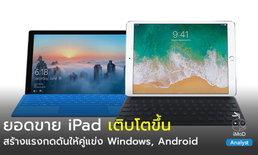 iPad มียอดขายเติบโตขึ้น (ไตรมาส 2 ปี 2018) สร้างแรงกดดันให้คู่แข่ง Tablet อย่าง Windows, Android