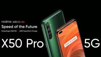เปิดตัวrealmeX50 Proตัวแรงพร้อมขุมพลังSnadpragon865รองรับ5Gในงบเริ่มต้น2หมื่นบาท