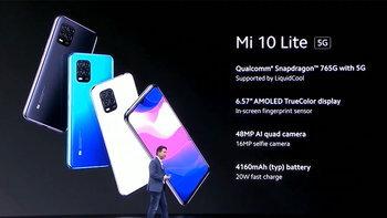 XiaomiเผยโฉมMi 10 Lite 5Gมือถือรุ่นเล็กสเปกครบให้ทุกคนเข้าถึง5Gในงบไม่บานปลาย