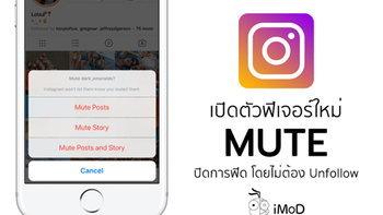 Instagram เปิดตัวฟีเจอร์ใหม่ Mute ปิดการฟีดโพสต์และเรื่องราวของเพื่อน โดยไม่ต้องเลิกติดตาม