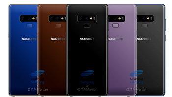 """Samsung Galaxy Note 9"" อาจมีให้เลือกมากถึง 5 สี ด้วยกัน"