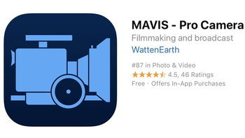 """MAVIS – Pro Camera"" แอปถ่ายวิดีโอระดับ Pro ปล่อยฟรี ราคาเต็ม 16.99$"