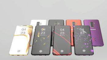 """ชมภาพ Render """"Samsung Galaxy S10"""" (หรือ Galaxy X) ที่เป็นมือถือหน้าจอเต็มและล้ำสุด"""