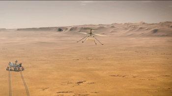 นาซ่าเผยนาทีประวัติศาสตร์! เฮลิคอปเตอร์เริ่มทดสอบบินบนดาวอังคารครั้งแรกสำเร็จ