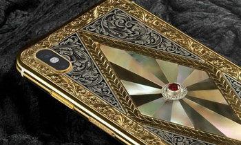 ชมภาพ iPhone X ที่มีการตกแต่งด้วย ทองและเพชร สวยอลังการ ราคาไม่ต้องพูดถึง