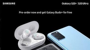 หลุดจากต่างประเทศ สั่งจอง Samsung Galaxy S20+ และ S20 Ultra จะได้ Galaxy Buds+ แถมไปด้วย