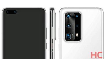 หลุดภาพเรนเดอร์อย่างเป็นทางการ Huawei P40 และ P40 Pro พร้อมรายงานรุ่น Premium