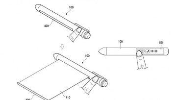 LG จดสิทธิบัตร ปากกาที่มีหน้าจอแบบม้วนได้ในตัว