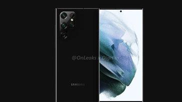 หลุดภาพเรนเดอร์ Samsung Galaxy S22 Ultra ที่มาพร้อมปากกา S Pen
