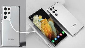 ภาพเรนเดอร์ล่าสุด Samsung Galaxy S22 Ultra มาพร้อมหน้าจอดีไซน์ทรงหยดน้ำ