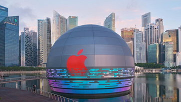เผยภาพ Apple Store สาขาใหม่ของสิงคโปร์ที่ตั้งอยู่บนผืนน้ำใกล้ Marina Bay Sands