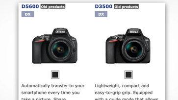 เหมือนจะไม่ได้ไปต่อ Nikon ระบุกล้อง DSLR D3500 และ D5600 เป็น old product คาดยุติการผลิตแล้ว