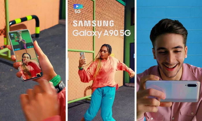 หลุดภาพโปรโมต Samsung Galaxy A90 5G ล่าสุด เผยตัวเครื่องชัดเจน