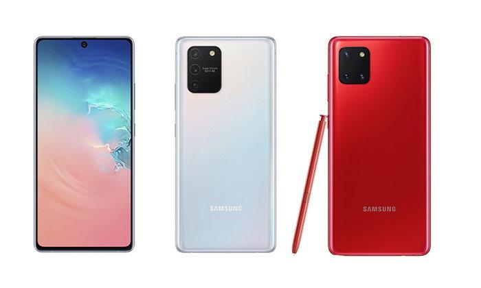 เปิดตัวแล้วSamsung Galaxy S10 LiteและSamsung Galaxy Note 10 Liteรุ่นใหม่ล่าสุด