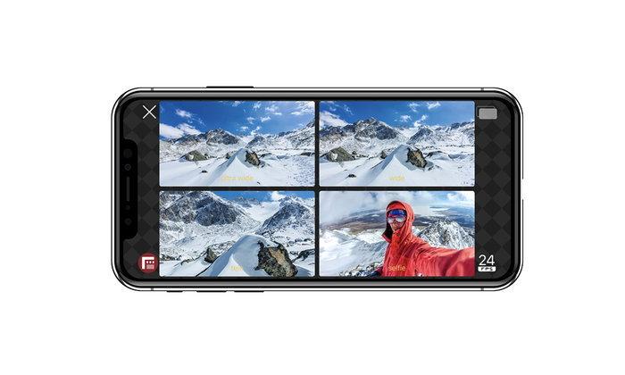 มาแล้วDoubleTakebyFiLMiCProโปรแกรมถ่ายวิดีโอพร้อมกัน4กล้องในiPhoneปล่อยให้โหลดแล้ว