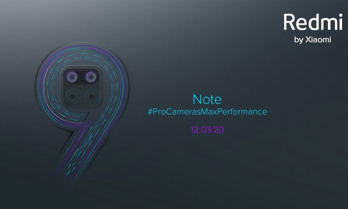 Redmi Note 9จะเผยโฉมในวันที่12มีนาคมนี้