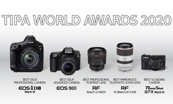 Canon คว้ารางวัลสุดยอดสำหรับงานกล้องมากถึง 5 รางวัลจากเวที TIPA World Awards2020
