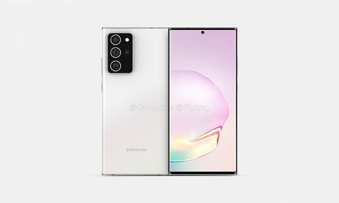 ชมภาพดีไซน์เบื้องต้นของSamsung Galaxy Note 20+ที่จะใหญ่ขึ้นกว่าเดิม