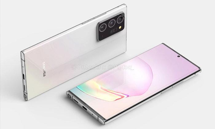 """ชมภาพเรนเดอร์แรกสุดงามของ """"Samsung Galaxy Note 20 Plus"""" ที่อ้างอิงจากข้อมูลล่าสุด"""