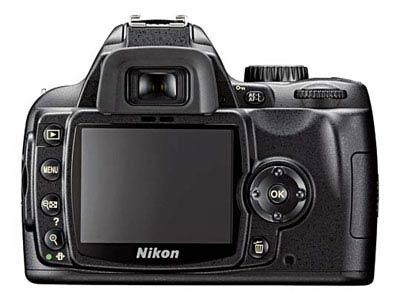 ด้านหลังกล้อง NIKON D60