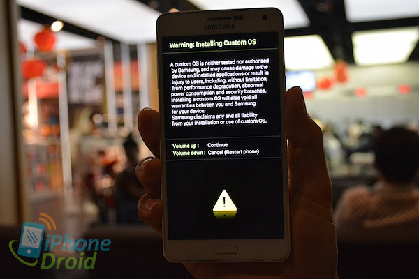 how to restart samsung if its hang