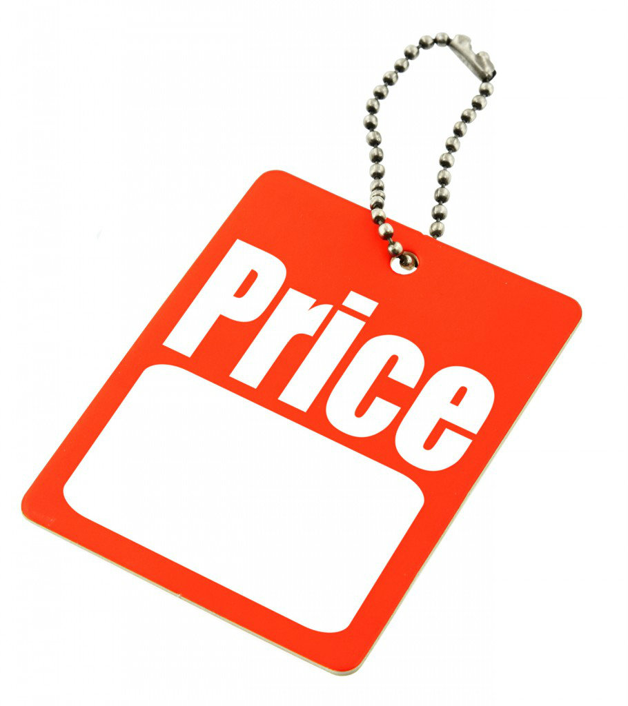 price tag with copy space