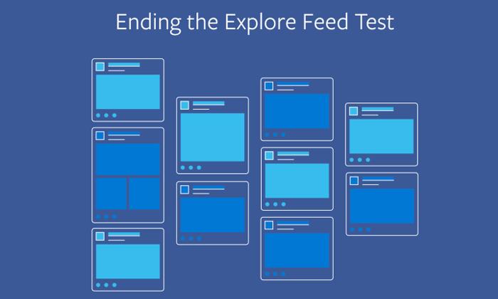 "Facebook เปลี่ยนใจ หยุดแยก ""Explore Feed"" ออกจาก News Feed"