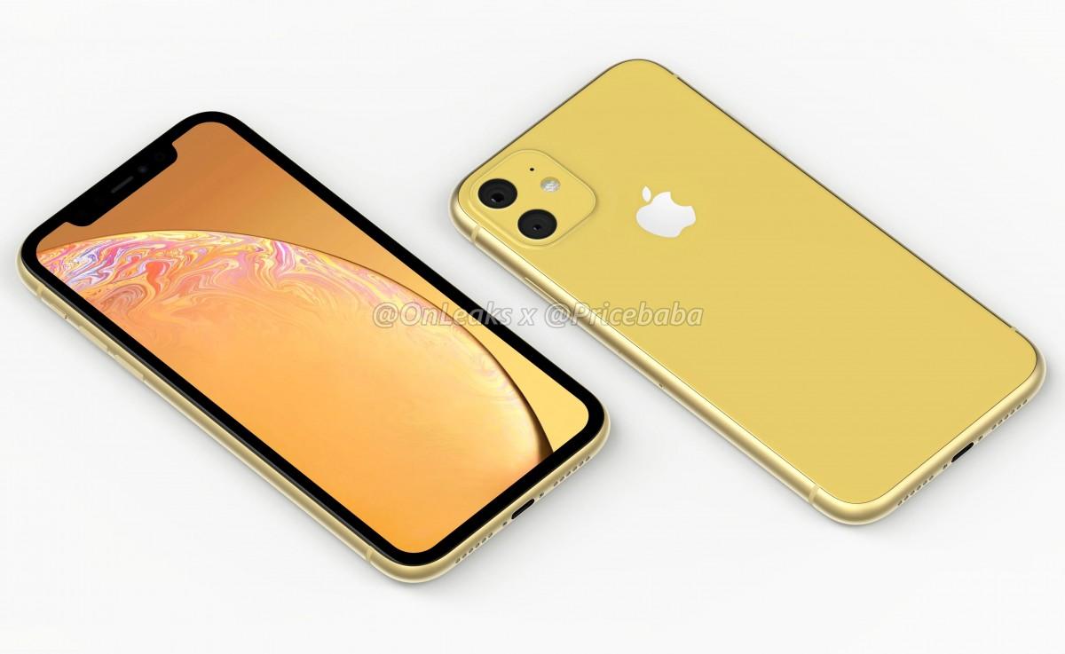 """ชมภาพเรนเดอร์ iPhone XR 2019 พร้อมกล้องหลังคู่ทรง """"สี่เหลี่ยม"""""""