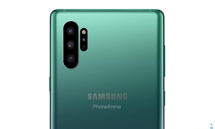 ชมภาพ Samsung Galaxy Note 10 พร้อมกล้องหลังแนวตั้ง 4 ตัว ที่ดูดีมากขึ้น