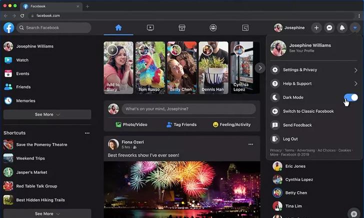 หน้าเว็บ Facebook ดีไซน์ใหม่และ Dark mode พร้อมให้ใช้งานแล้ว
