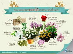 ความหมายของดอกไม้ตามความเชื่อโบราณ