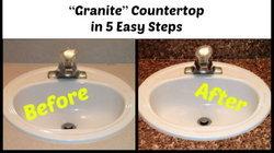 5 Step DIY ง่ายเว่อร์ เปลี่ยนเคาน์เตอร์เรียบๆ เป็นหินแกรนิตสุดหรู