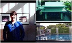 นานๆ จะเห็นหน้า เปิดบ้านจ๊อบ นิธิ บ้านสไตล์โมเดิร์น มีสระว่ายน้ำ
