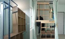 DIY ตู้เสื้อผ้า walk in closet บ้าน บ้าน ใช้ของทึ่มีอยู่ให้เกิดประโยชน์ รวมงบ 1,638 บาท