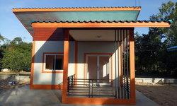 แบบบ้านชั้นเดียวสร้างเป็นบ้านเช่าในงบประมาณ 170,000 บาท สร้างที่จังหวัดชัยภูมิ