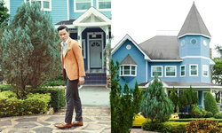 """บ้านพักส่วนตัวสีฟ้า สไตล์อังกฤษที่เขาใหญ่ของ """"เป๊ก-เศรณี"""" หวานใจ """"เพลง-ชนม์ทิดา"""""""