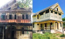 """งดงาม วิจิตร """"บ้านเกิดใหม่"""" บ้านเก่าที่เกือบจะกลายเป็นเศษไม้จากสีลม สู่โพธาราม"""