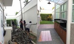 ไอเดียต่อเติมห้องครัวนอกบ้าน โปร่ง โล่ง สบายไว้ประกอบอาหารเฉพาะ แยกจากส่วนครัวในบ้าน
