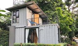 บ้านพักอาศัยจากตู้คอนเทนเนอร์ ไอเดียบ้านสวยหลังเล็ก แต่ครบทุกรายละเอียด