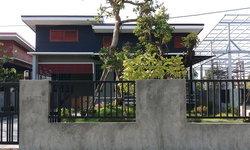 แบบบ้านชั้นเดียวสไตล์โมเดิร์นลอฟท์ ระเบียงต้นไม้พร้อมสวนสวย 3 ห้องนอน พื้นที่ 100 ตร.ว. By คุณพร้อม ด้วงไข่