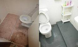 """รีวิว """"รีโนเวทห้องน้ำเก่า"""" โดยการทาสีพื้นกระเบื้อง ไม่ต้องรื้อกระเบื้องก็เหมือนได้ห้องน้ำใหม่"""