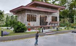 แบบบ้านชั้นเดียวสไตล์โมเดิร์น โดดเด่นด้วยเฉลียงกว้างเปิดโล่ง 3 ห้องนอน 2 ห้องน้ำ พื้นที่ 126 ตร.ม.