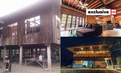 บ้านครึ่งปูนครึ่งไม้ ตกแต่งหรูหราเหมือนรีสอร์ท เจ้าของคุมงาน หาของเอง ราคา 1.5 ล้าน
