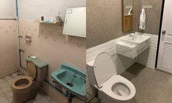 """รีโนเวท """"ห้องน้ำเก่าสุดโทรมอายุกว่า 30 ปี"""" ให้หรูหราทันสมัย รับแขกได้แบบไม่ต้องอายอีกต่อไป"""