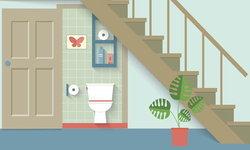 """บ้านมี """"ห้องน้ำอยู่ใต้บันได"""" ถูกหลักฮวงจุ้ยหรือไม่ ตกแต่งอย่างไรให้เฮง"""