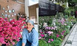 """อายุ 60 แล้วไง """"ต่าย เพ็ญพักตร์"""" จัดสวนในบ้านใหม่ให้สดใส ครบทุกดอก อวดทุกสี"""