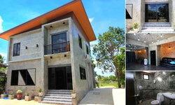 บ้านสองชั้นสไตล์โมเดิร์นลอฟท์ สวยดิบด้วยผนังปูนเปลือยทั้งหลัง 3 ห้องนอน 2 ห้องน้ำ พร้อมห้องทำงานส่วนตัว