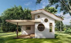 บ้านสวนสุดน่ารัก สไตล์มินิมอล 1 ห้องนอน 1 ห้องน้ำ พื้นที่ 60 ตร.ม.