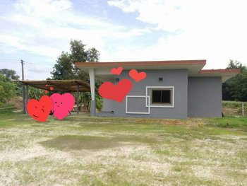 แบบบ้านชั้นเดียว บ้านหลังน้อยกลางสวน งบ 400,000 บาท